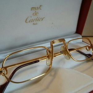 "Cartier ""Demi lune"" Eyeglasses, 100%"